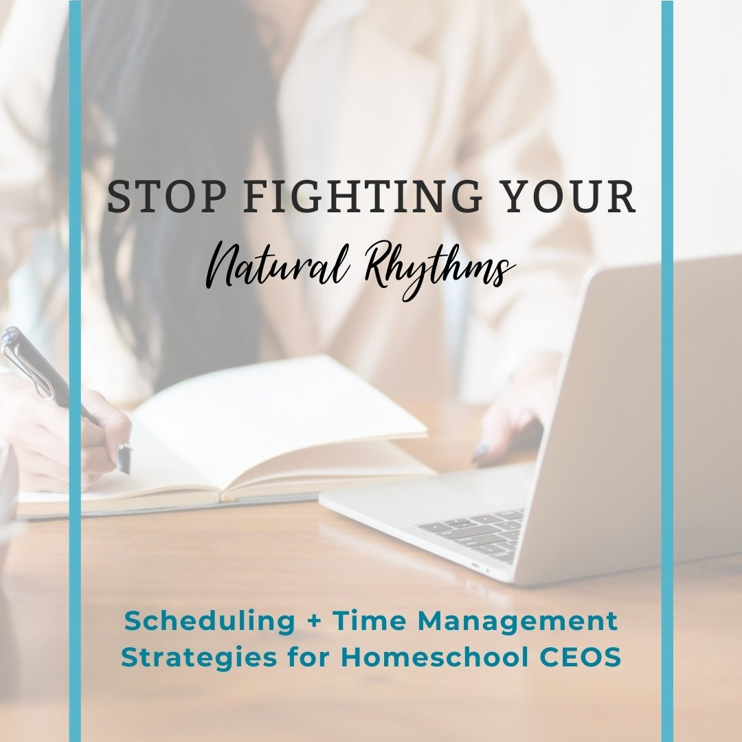 Stop fighting your natural rhythms and conquer your schedule